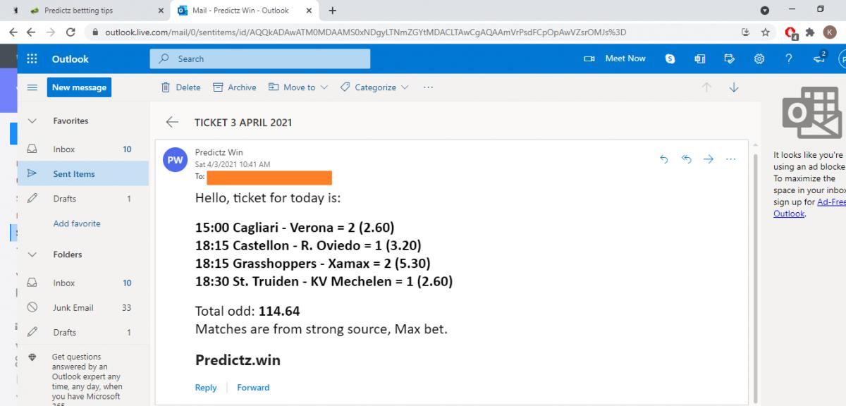predictz ticket 03.04.2021