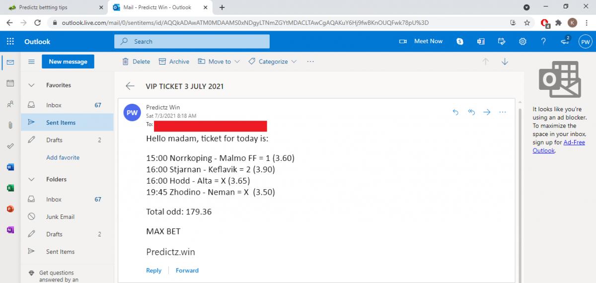predictz ticket 03.07.2021
