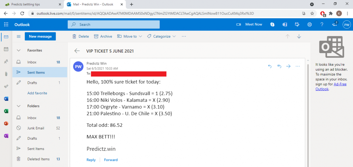predictz ticket 05.06.2021