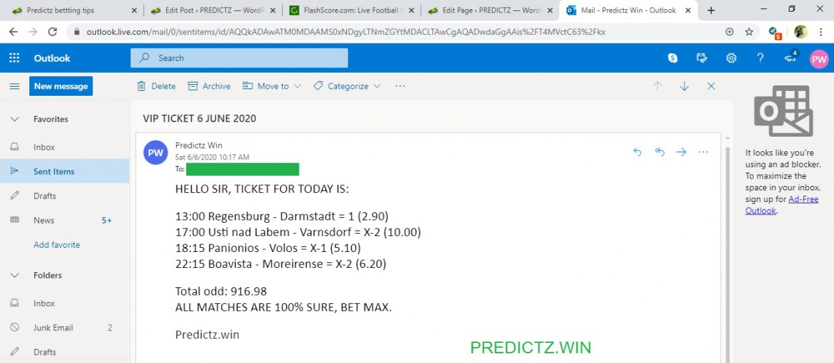 predictz ticket 06.06.2020
