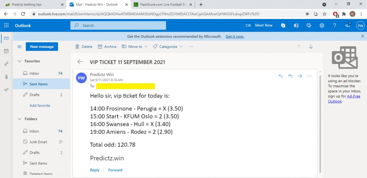 predictz ticket 11.09.2021