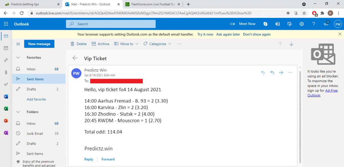 predictz ticket 14.08.2021