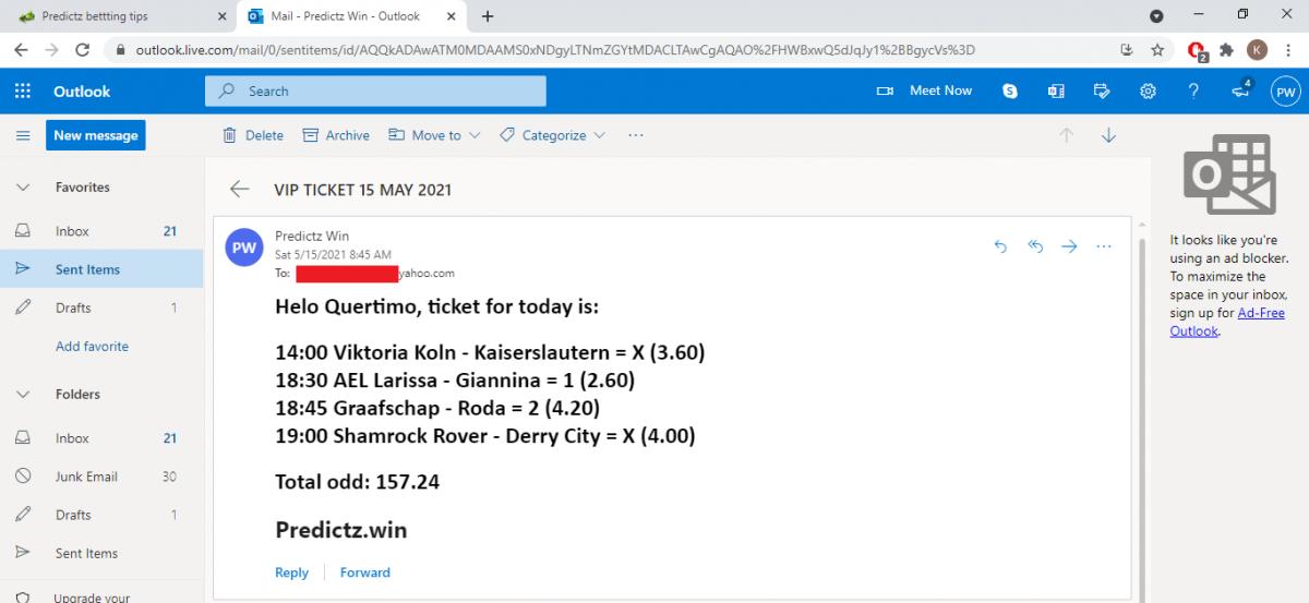 predictz ticket 15.05.2021
