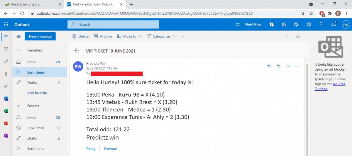predictz ticket 19.06.2021
