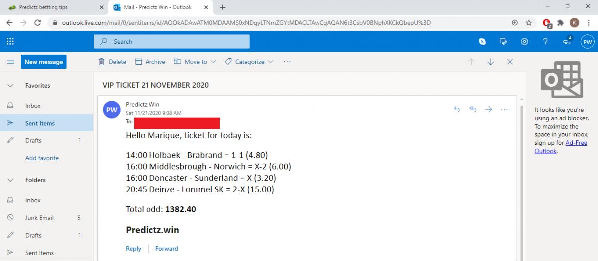 predictz ticket 21.11.2020