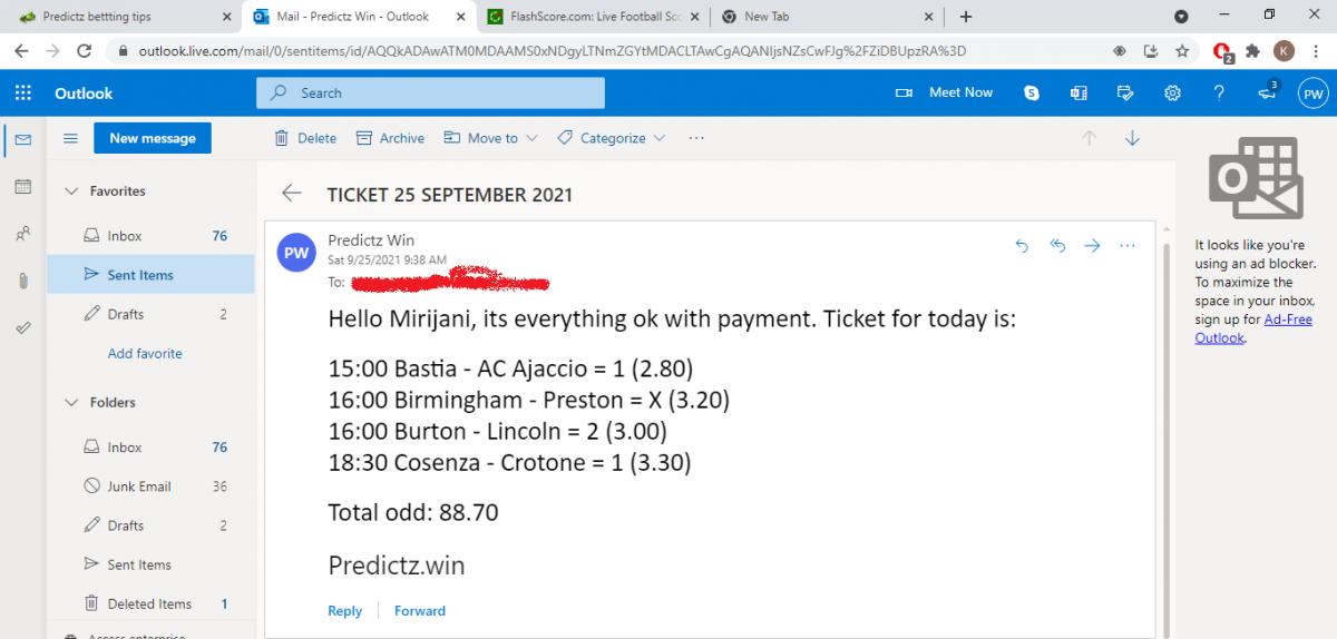 predictz ticket 25.09.20211