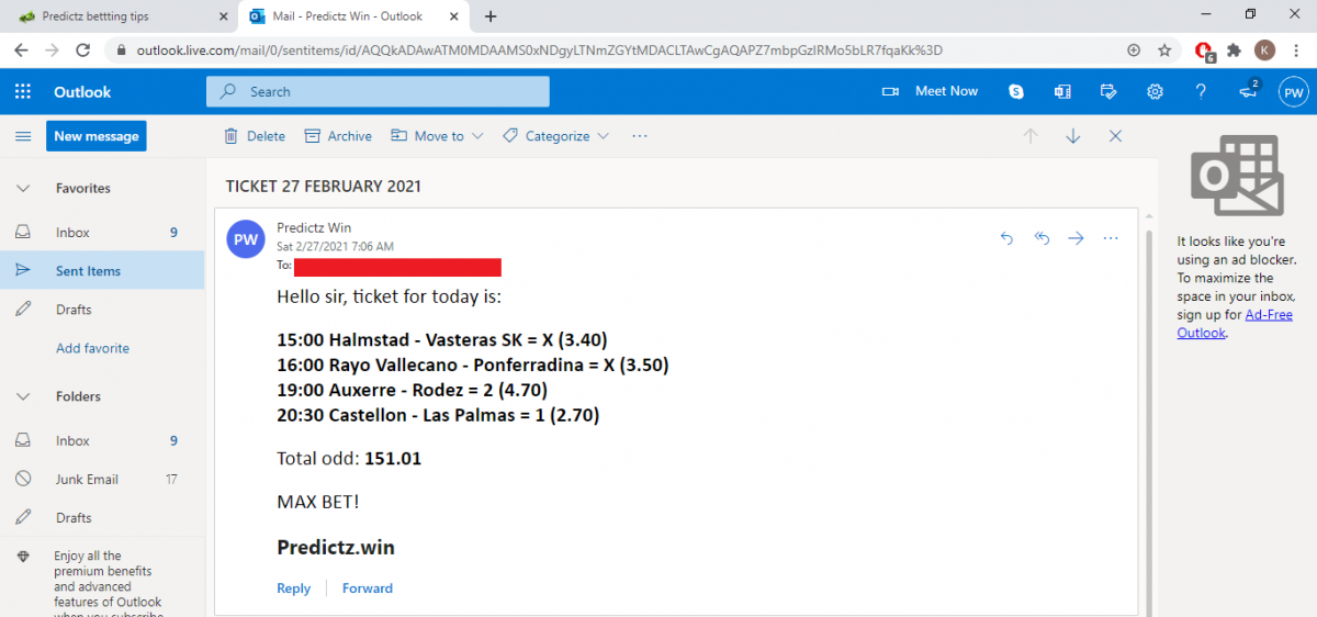 predictz ticket 27.02.2021