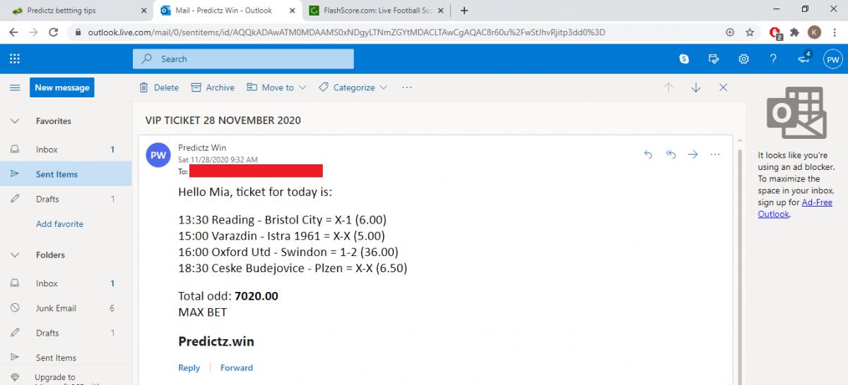 predictz ticket 28.11.2020