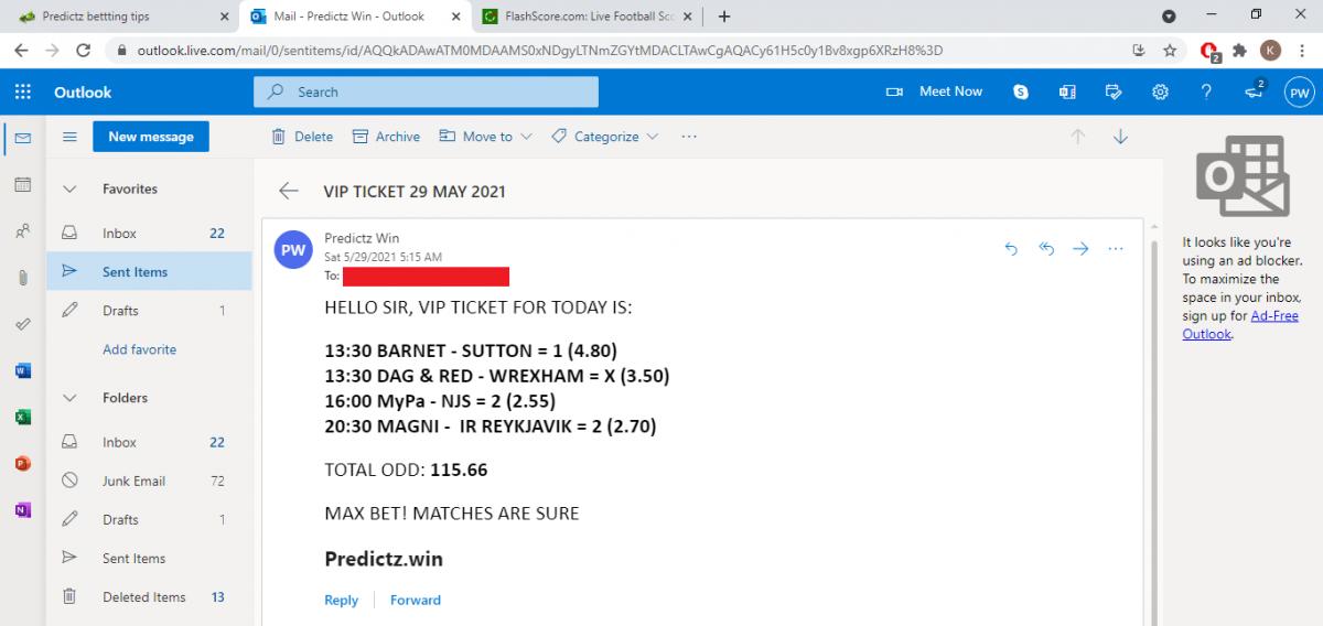 predictz ticket 29.05.2021