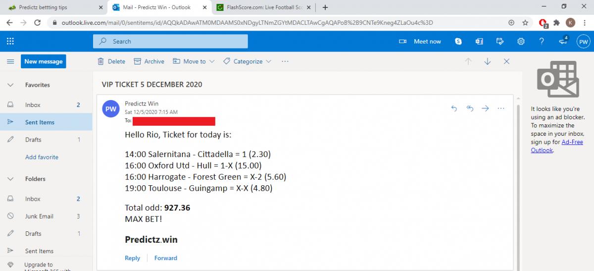 predictz ticket 5.12.2020