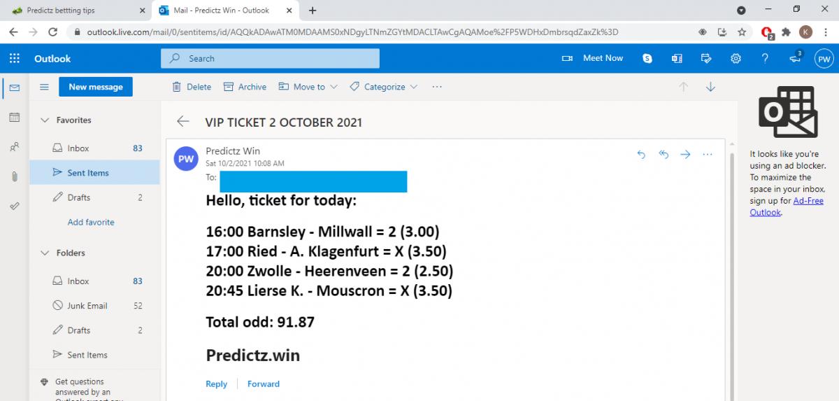 predictz ticket 02.10.2021