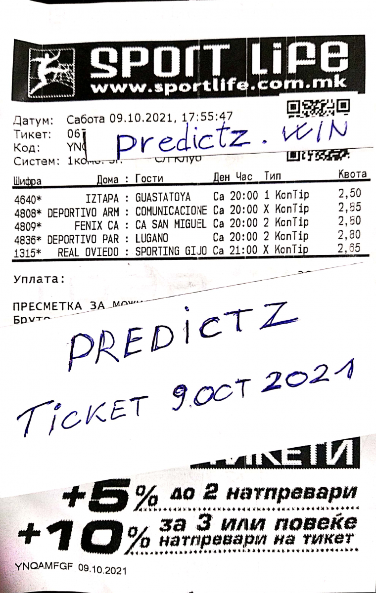 predictz ticket 09.10.2021