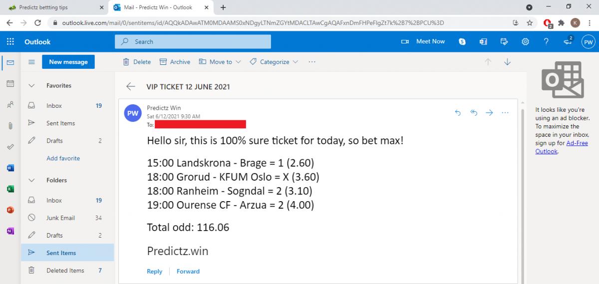 predictz ticket 12.06.2021