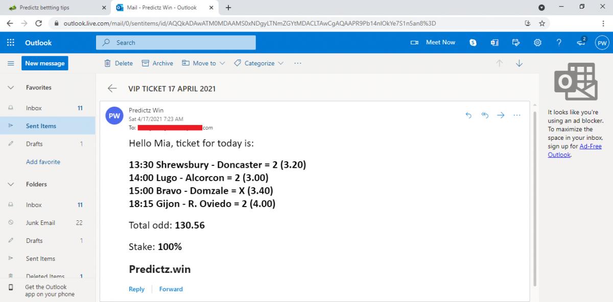 predictz ticket 17.04.2021