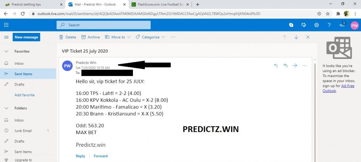 predictz ticket 25.07.2020